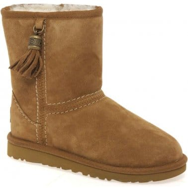 Tassels Girls Warm Lined Boots