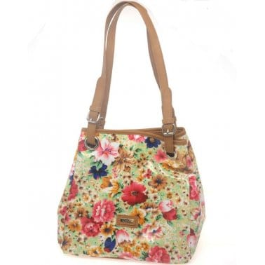 Gabor Flower Womens Shoulder Handbag