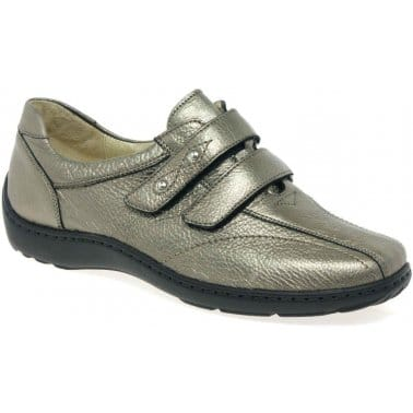 Stone Womens Velcro Fastening Shoes