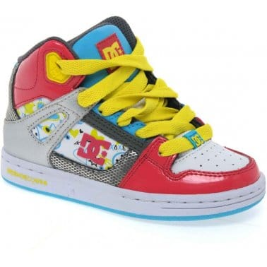 DC Shoes Rebound Hi Youth Girls Lace Up Trainers