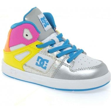 DC Shoes Rebound Hi Infant Girls Lace Up Trainers