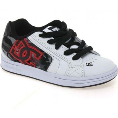 DC Shoes Net Se Youth Boys Lace Up Trainers