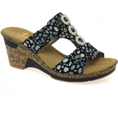 Rieker Blink Vamp Wedge Mules