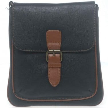 Siena De Luca Buckle Womens Leather Handbag