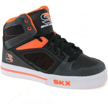 Skechers Yoke Boys Lace Up Mid Top Trainers