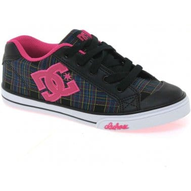 DC Shoes Chelsea Youth Girls Lace Up Canvas Shoes