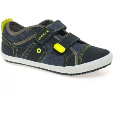 Geox Junior Pit Boys Velcro Fastening Canvas Shoes