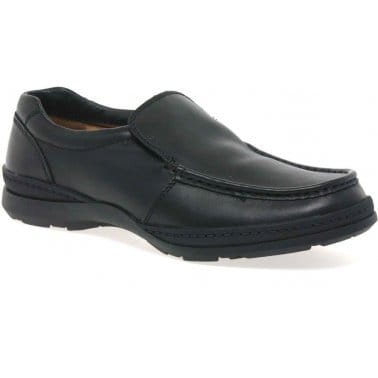 Line Move Mens Formal Black Leather Slip On Shoes