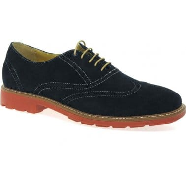 Steptronic Lazer Mens Casual Suede Lace Up Brogues
