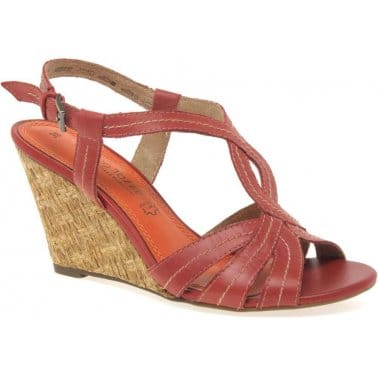 Flo Womens Wedged Heel Sandals