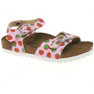 Birkenstock Tuvalu Strawberry Pink Girls Sandals