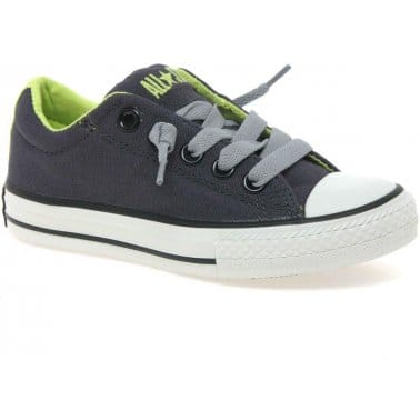 Converse All Star Street Junior Boys Lace Up Canvas Shoes