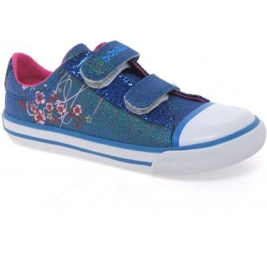 Clarks Glitterbug Infant Girls Canvas Shoes