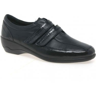 Padders Velvet Womens Rip-Tape Casual Leather Shoes