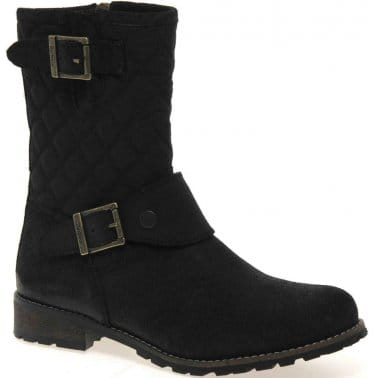 Brent Womens Quilted Calf Boots