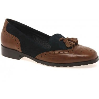 Chelsea Womens Brogue Detail Loafers