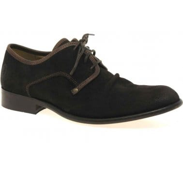 West Mens Suede Lace Fastening Shoes