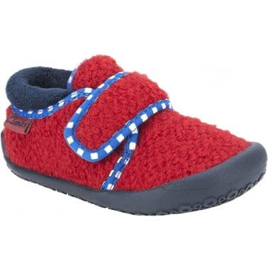 Doodles Easy Dreamer Boys Velcro Fastening Slippers