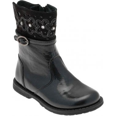 Glossy Toddler Girls Patent Boots