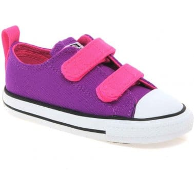 All Star Velcro Infant Girls Canvas Shoes