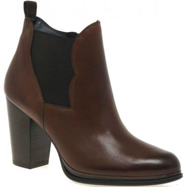West Womens Leather Ankle Boots