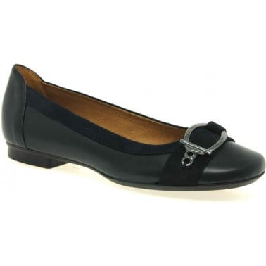 Virginia Leather Ladies Ballerina Pumps