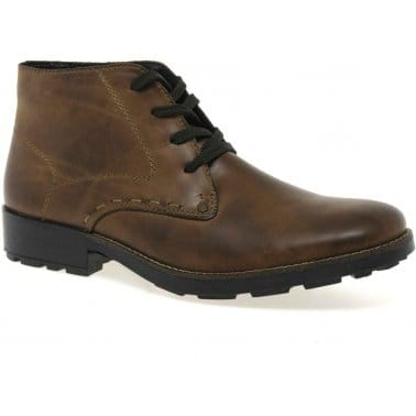 Riley Mens Lace Up Ankle Boots