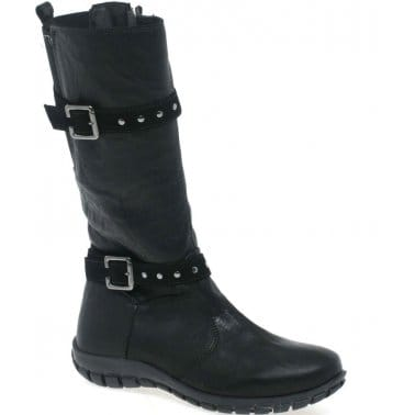 Crinkle Girls Long Boots