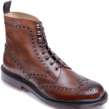 Tweed Mens Formal Lace Up Boots