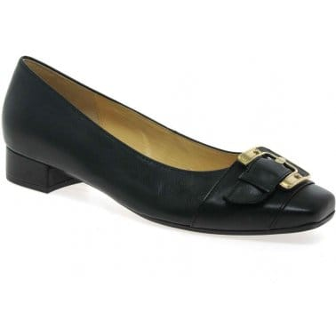 Monument Black Leather Pumps