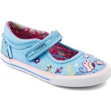 Paradise Girls Rip-Tape Canvas Shoes