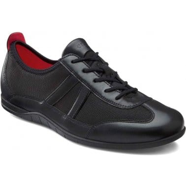 Bluma Womens Leather Lace Up Trainers