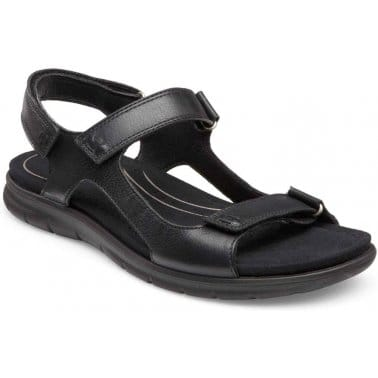 Babett Womens Rip-Tape Leather Sandals
