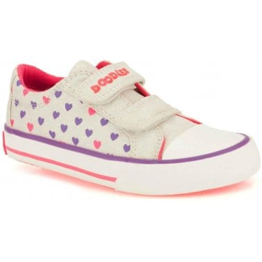 Doodles Top Bay Girls Canvas Plimsolls