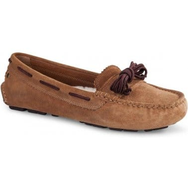 Meena Womens Suede Driving Loafers