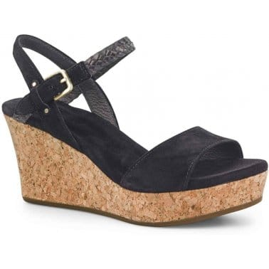 D'Alessio Womens Wedge Heel Suede Sandals