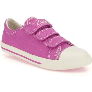 Happy Lass Infant Girls Canvas Shoes
