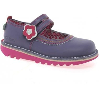 Kickers Duo Infant Girls Leather Shoes