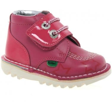 Kickers Hi One Girls Infant Rip Tape Boots