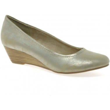 Marco Tozzi Quibble II Womens Wedge Heel Court Shoes