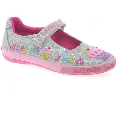 Lelli Kelly Glitter Elsie Dolly Girls Canvas Shoes