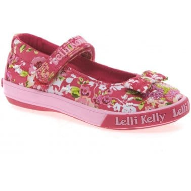 Lelli Kelly Daisy Ballet Girls Canvas Shoes