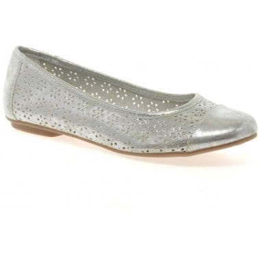 Haiku Womens Metallic Ballet Pumps