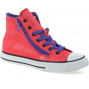 All Star Hi Double Zip Girls Canvas Boots