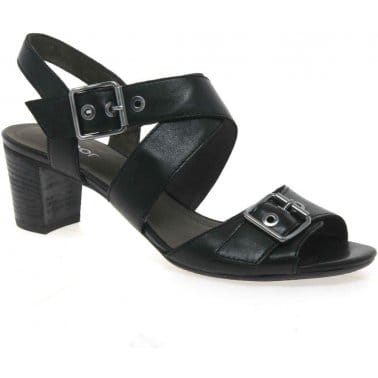 Britney Leather Buckle Sandals