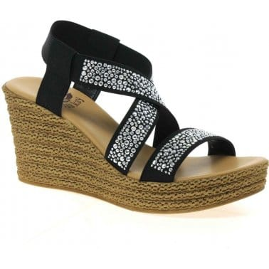 Lisa Kay Izzy Womens Wedge Heeled Espadrilles