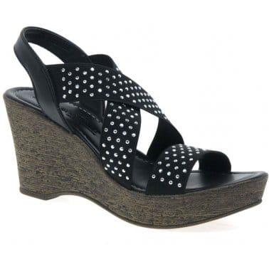 Marco Tozzi Plead Womens Wedge Heeled Sandals