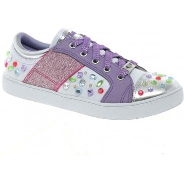 Lelli Kelly Lelli Kelly Gemme Lights Girls Lace Up Trainers