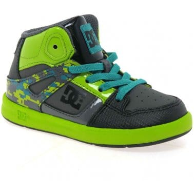 DC Shoes Rebound Hi Toddler Boys Trainers