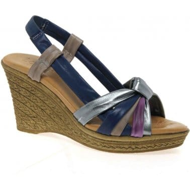 Ashwan Womens Wedge Heeled Sandals